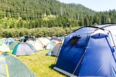 Free Tents Surrounded By Trees Royalty Free Stock Photo - 126186705
