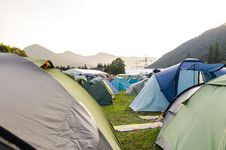 Free Tents On The Ground Stock Photography - 126186772