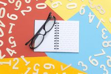Free Eyeglasses With Black Frames Stock Images - 126187344