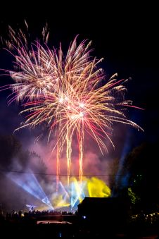 Free Fireworks Display At Night Stock Photo - 126187360
