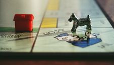 Free Dog And House Toy On Monopoly Board Game Royalty Free Stock Photo - 126187545