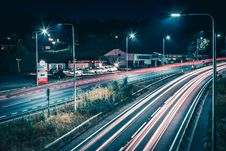 Free Time Lapse Photo Of Vehicles At Night Time Royalty Free Stock Photography - 126187637