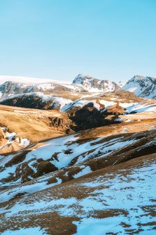 Free Brown Mountain With Snow During Dayitme Royalty Free Stock Photography - 126187857