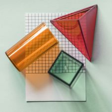 Free Three Orange, Red And Green Containers Stock Photography - 126188332