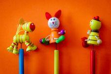 Free Three Yellow, Orange, And Black Toy Sticks Royalty Free Stock Photos - 126189218