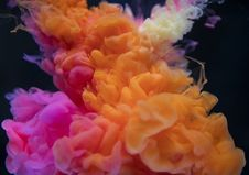 Free Orange, White, And Pink Smoke Digital Wallpaper Stock Images - 126189314