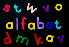 Free Assorted-color Alfabet Letters On Black Background Stock Photo - 126189930
