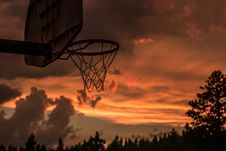 Free Black Basketball Hoop Royalty Free Stock Photo - 126190055