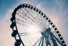 Free White Ferris Wheel Under Cloudy Sky Stock Photos - 126190233