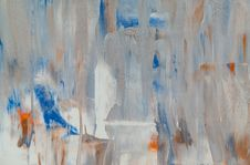 Free White, Blue, And Orange Abstract Painting Royalty Free Stock Image - 126190526