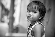 Free Grayscale Photo Of Child Frowning Stock Photos - 126190673