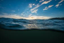 Free Calm Body Of Sea Water Under Clear Blue Sky Royalty Free Stock Images - 126190999
