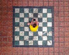 Free Man Sitting On Ground Stock Photos - 126191003