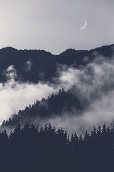 Free Photo Of Mountain Covered With Fog Stock Photography - 126191162