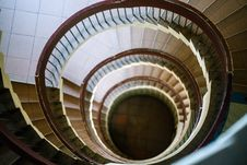 Free Top-view Photo Of Spiral Stairs Stock Photography - 126191572