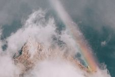 Free Mountain Covered By Fog Royalty Free Stock Image - 126191586