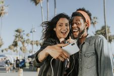 Free Photo Of Man And Woman Taking Selfie Stock Photography - 126191822