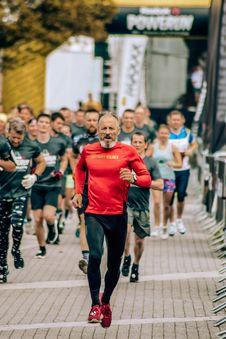 Free Man Running At Marathon Event Stock Image - 126192001