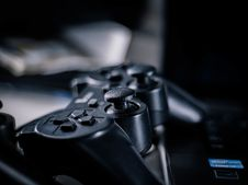 Free Closeup Photo Of Black Corded Game Controller Stock Photography - 126192272