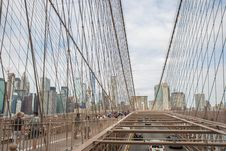 Free Cable People On Cable Bridge Royalty Free Stock Images - 126193859