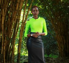 Free Woman Standing Beside Bamboo Trees Stock Photography - 126194232