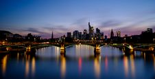 Free Bridge Across City Buildings During Nighttime Stock Images - 126194334