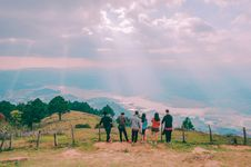 Free Group Of People Standing On Hill Royalty Free Stock Image - 126195026