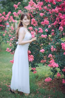 Free Woman In Dress Standing Beside Tree Royalty Free Stock Image - 126195086