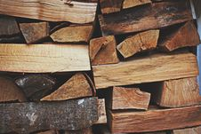 Free Photo Of A Pile Of Firewood Stock Photo - 126195290