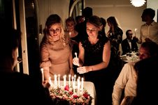 Free Two Women Holding Candles Stock Image - 126195351