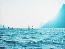 Free Sailboats On Sea Near Mountain Stock Photography - 126195402