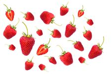 Free Red Strawberries Scattered On Air Royalty Free Stock Images - 126195639