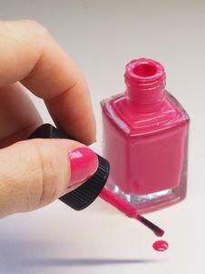 Free Pink Nail Polish Bottle Royalty Free Stock Image - 126195726