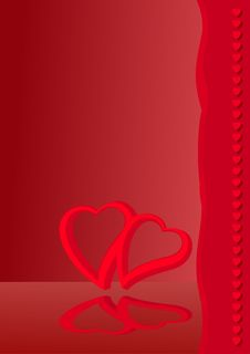 Free Valentine Card 1 Royalty Free Stock Image - 12621266