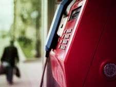 Free Selective Focus Photo Of Telephone Booth Royalty Free Stock Image - 126245496