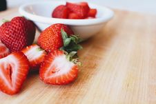 Free Photo Of Strawberries In Bowl On Table. Stock Image - 126245611