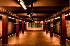 Free Photo Of Empty Subway Station Stock Photography - 126245692