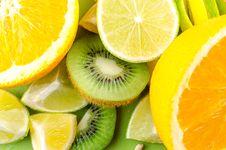 Free Photo Of Sliced Kiwi, Lemon, And Orange Fruits Royalty Free Stock Photo - 126246145