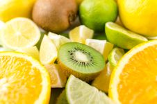 Free Photo Of Slices Of Kiwi, Lime, And Orange Fruits Stock Photos - 126246263