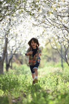 Free Boy Running During Sunset Stock Photos - 126246503