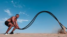 Free Topless Man Holding Black Rope Royalty Free Stock Photos - 126404548