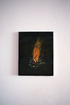 Free Bonfire Painting Royalty Free Stock Photography - 126405357
