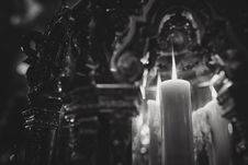 Free Grayscale Of Lighted Candle Stock Image - 126543541