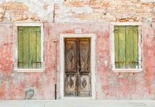 Free Closed Brown Wooden Door And Window Stock Photo - 126652440
