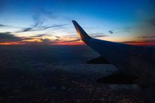 Free White Airplane Wing During Golden Hour Royalty Free Stock Images - 126652669
