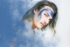 Free Man S Portrait Photo Against Clouds As Background Royalty Free Stock Photo - 126652785