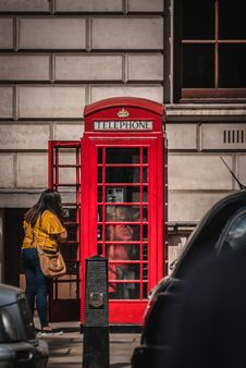 Free Red Telephone Booth Stock Photo - 126652830