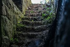 Free Empty Stone Stairs Beside Grasses Stock Photos - 126727503