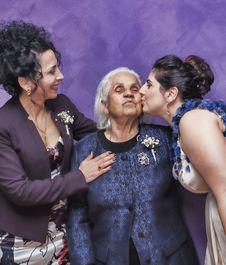 Free Woman Kissing Woman S Cheek Stock Photos - 126727543