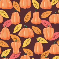 Free Seamless Patterns Pumpkin. Halloween Background Vector Illustration Royalty Free Stock Photos - 126799178